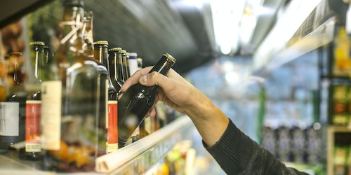 Buying a beer in supermarket