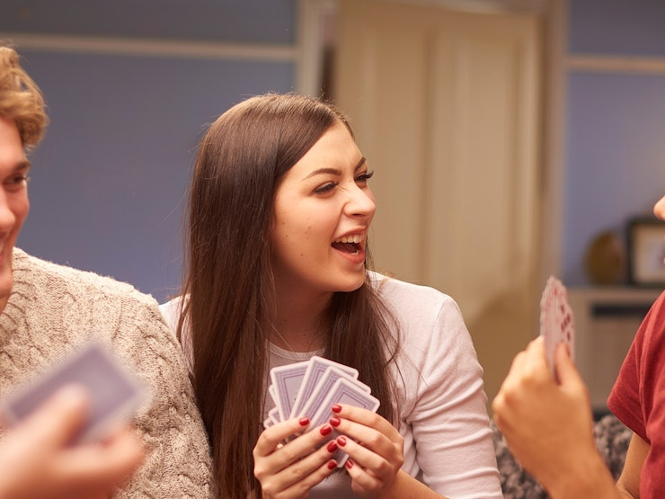Friends Playing Cards Cropped