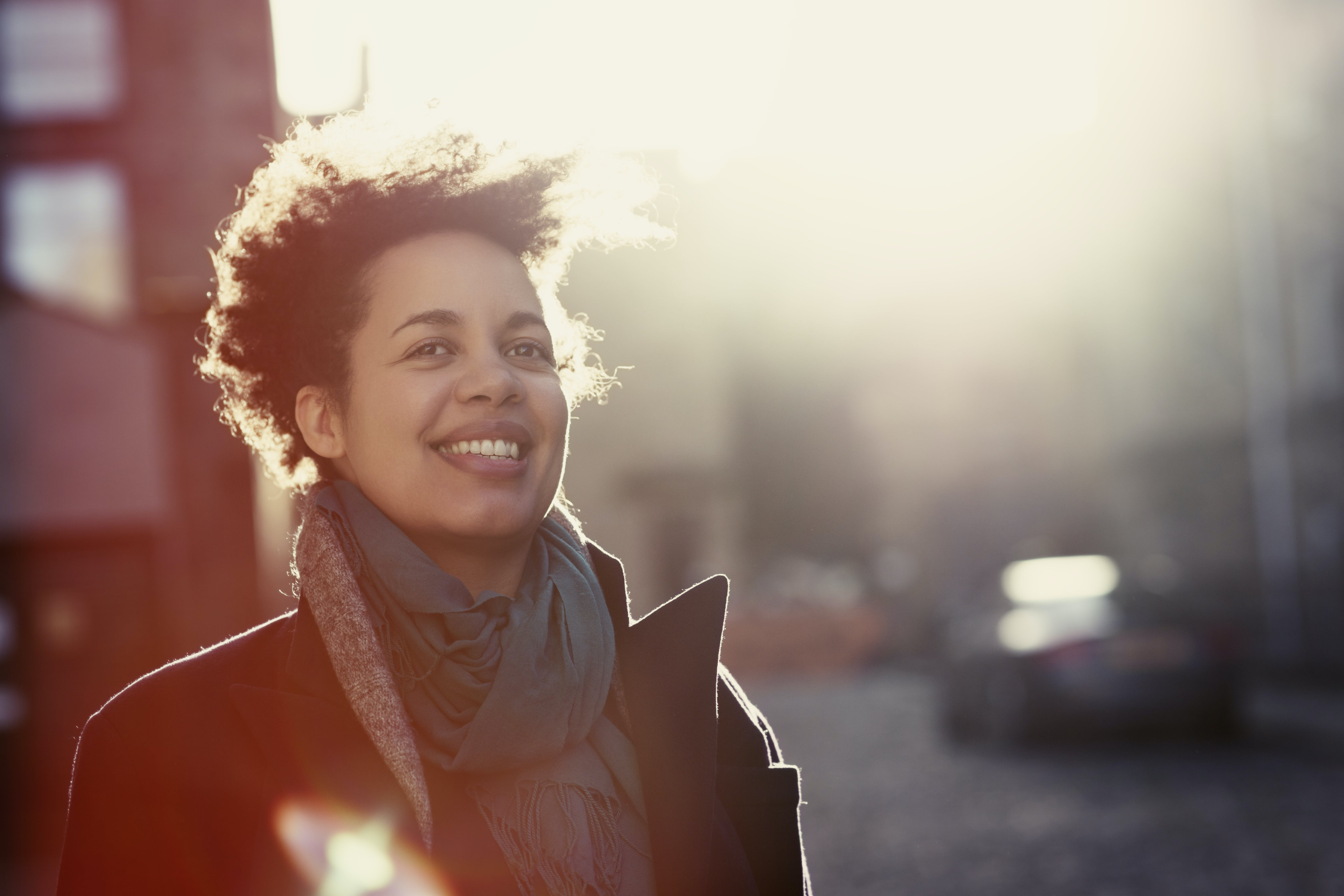 Happy Urban Portrait Of A Woman In Her 30S Istock 503753526