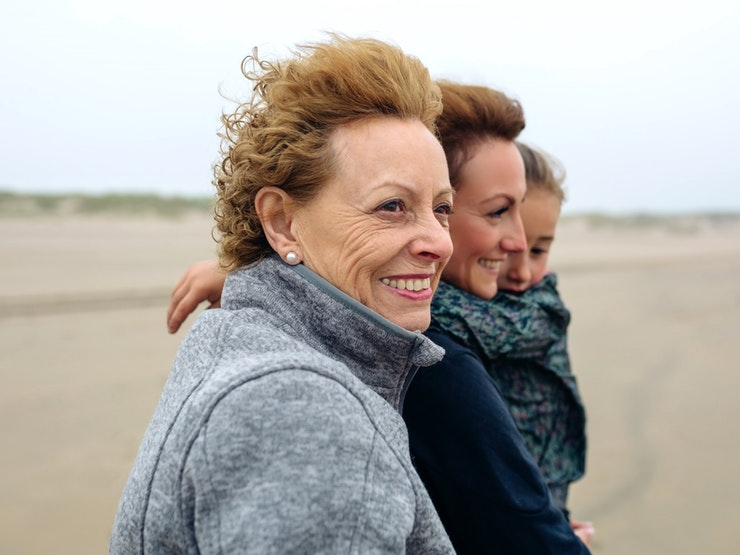Three Generations Female Walking On Beach Istock 855081010