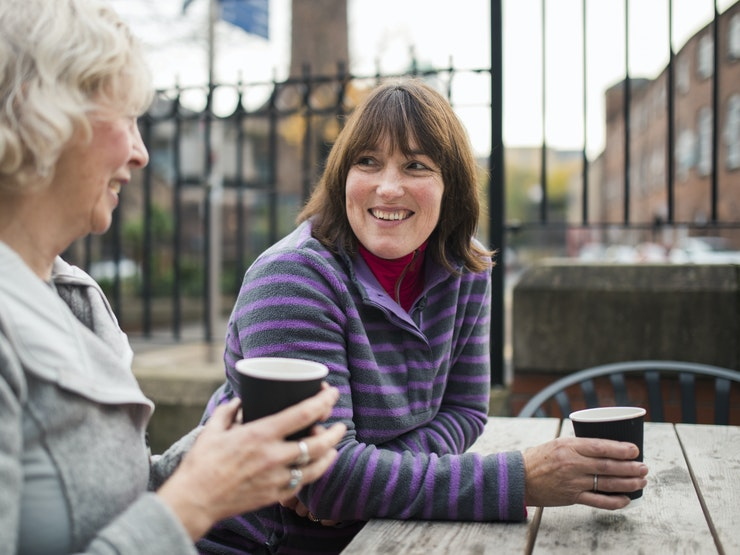 Two Friends Getting A Coffee Istock 925327650